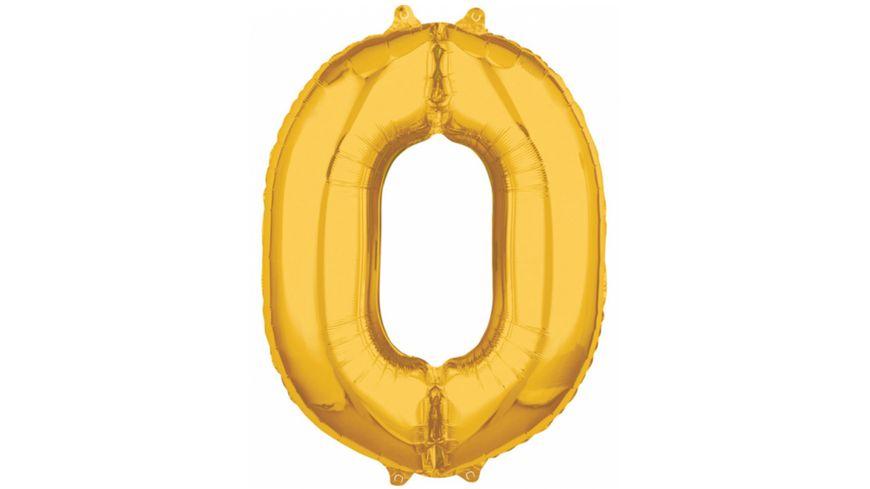 "Amscan - Folienballon Zahl 0 gold 26"" P31"