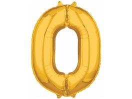 Amscan Folienballon Zahl 0 gold 26 P31