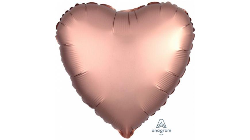 Amscan Folienballon Herz Copper Satin metallic S15 43cm