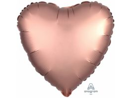 Amscan Folienballon Herz Copper Satin metallic S15 43cm