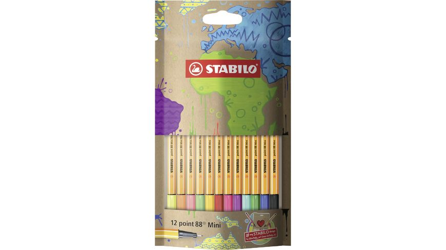 STABILO point 88 Mini Fineliner mySTABILOdesign Edition 12er Etui