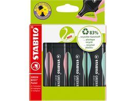 STABILO Textmarker GREEN BOSS Pastell 4er Pack
