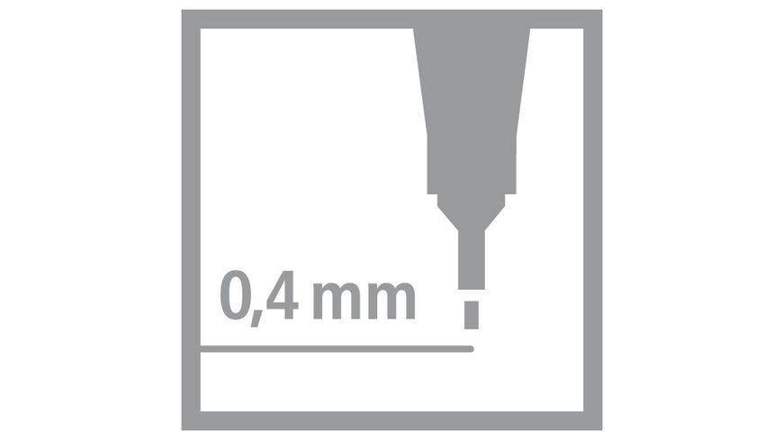 STABILO point 88 Fineliner Tintenkiller im Set colorkilla erasable 5er Etui