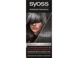 syoss Coloration Stufe 3 4 15 Metallisches Chrom