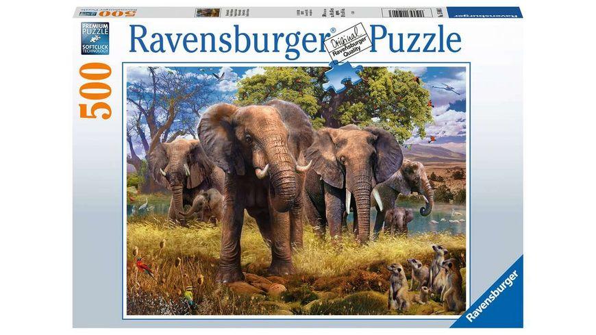 Ravensburger Puzzle Elefantenfamilie 500 Teile