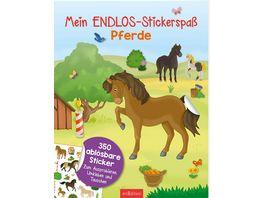 Mein Endlos Stickerspass Pferde