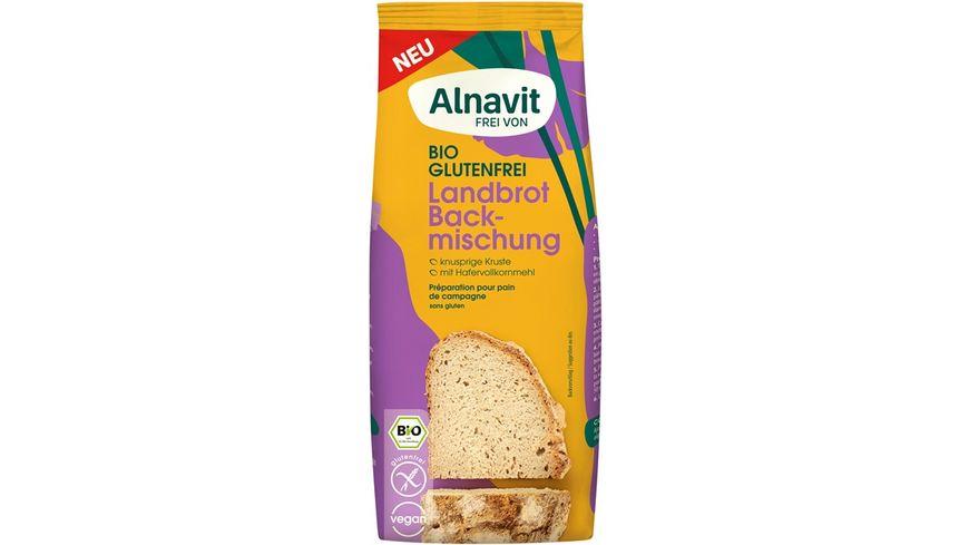 Alnavit Bio Landbrot Backmischung - glutenfrei