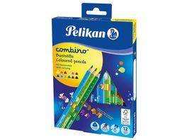 Pelikan Buntstifte Combino dick und dreieckig 12er Karton