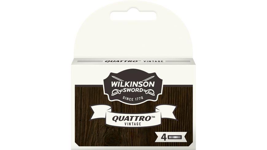 Wilkinson Quattro Vintage 4er Rasierklingen