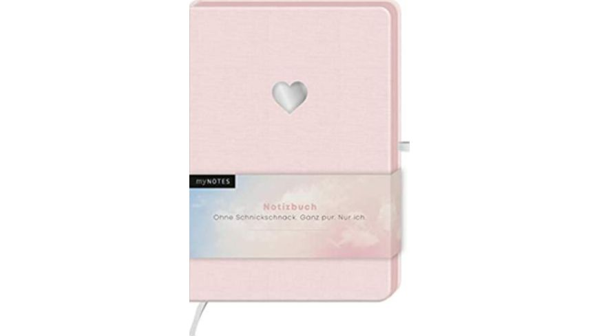 myNOTES Notizbuch A5 Classics Herz rosa dotted
