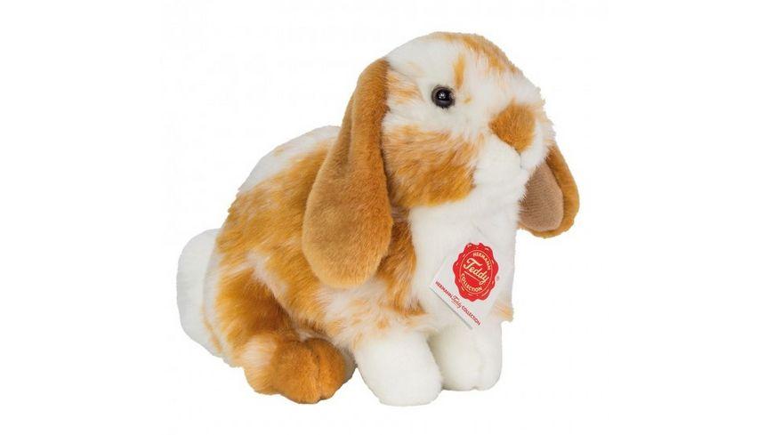 Teddy-Hermann - Hase sitzend hellbraun/weiß gescheckt 20 cm