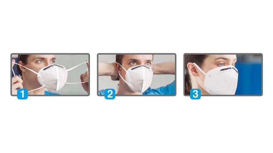 Gesichtsmaske fuer Erwachsene 4 lagig
