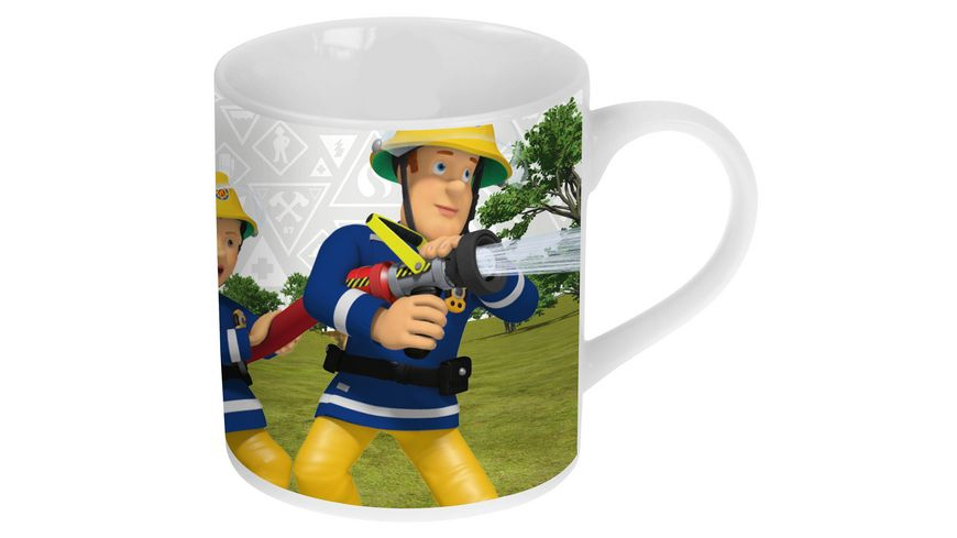 p os Handel Feuerwehrmann Sam Porzellan Tasse 1 Stueck sortiert