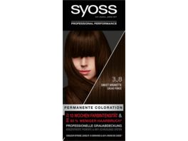 syoss Coloration Stufe 3 3 8 Sweet Brunette
