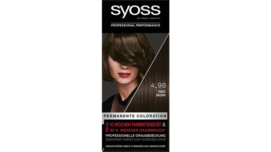 SYOSS Coloration Stufe 3 4_98 Paris Brown