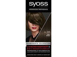 SYOSS Coloration Stufe 3 4 98 Paris Brown bis zu 10 Wochen Farbintensitaet 115 ml