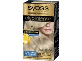 syoss Oleo Intense Permanente Oel Coloration 12 0 Extra Platinum