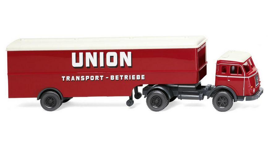 "WIKING 051323   1:87 Koffersattelzug (Henschel) ""Union Transport"""
