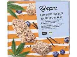 Veganz BIO Hanfriegel Blaubeere Vanille 3er Pack