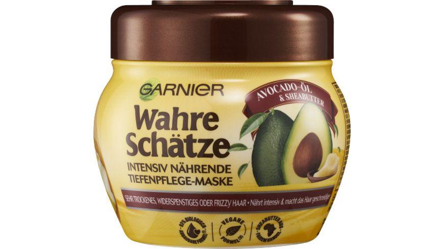GARNIER Wahre Schaetze Intensiv Naehrende Tiefenpflege Maske Avocado Oel Sheabutter