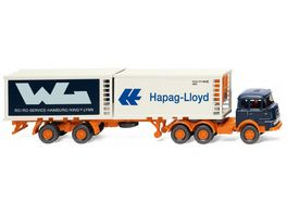 Wiking 0522 01 1 87 Kuehlcontainersattelzug Krupp Hapag Lloyd WL