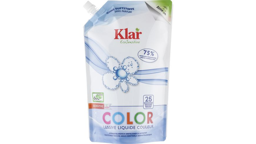 Klar EcoSensitive Colorwaschmittel OHNE DUFT Öko-Pack