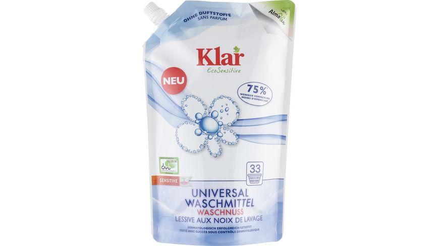 Klar EcoSensitive Universalwaschmittel OHNE DUFT Öko-Pack