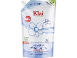 Klar EcoSensitive Universalwaschmittel OHNE DUFT Oeko Pack