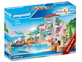 PLAYMOBIL 70279 Family Fun Eisdiele am Hafen