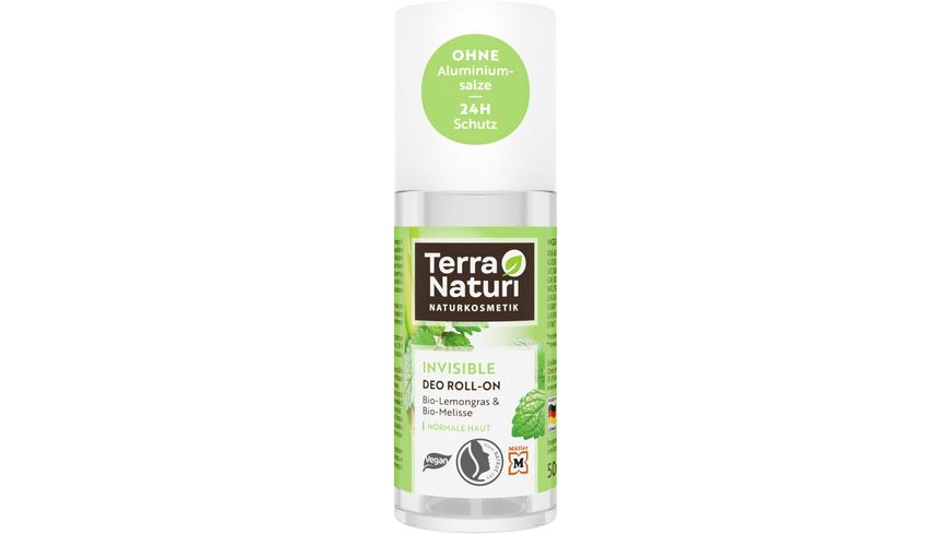 Terra Naturi Deo Roll-On Invisible mit Lemongrass & Melisse