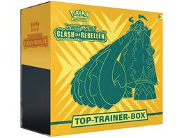 Pokemon Sammelkartenspiel Top Trainer Box Schwert Schild Clash der Rebellen