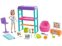Barbie Team Stacie Schlafzimmer Spielset mit Puppe