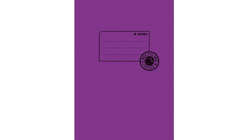 HERMA Hefthülle A5 aus Papier violett