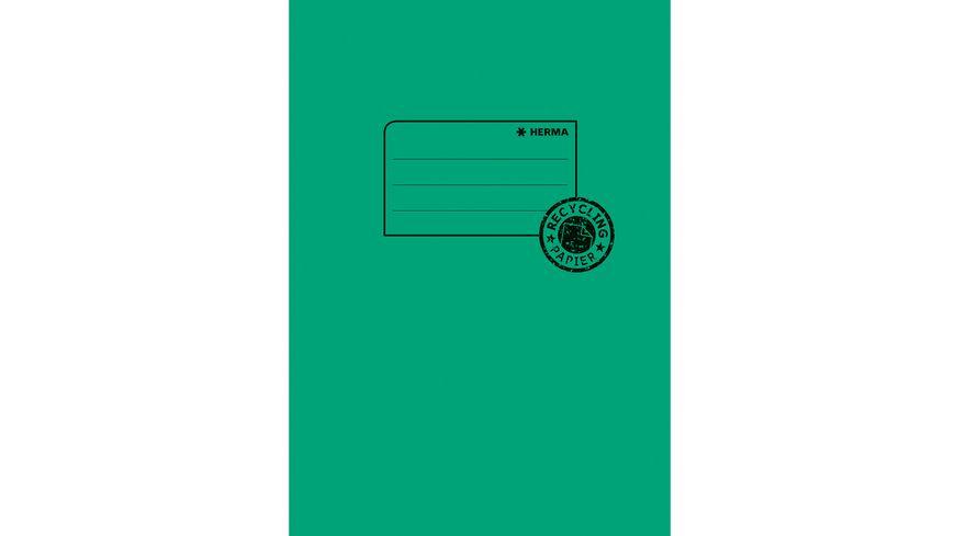 HERMA Hefthülle A5 aus Papier dunkelgrün
