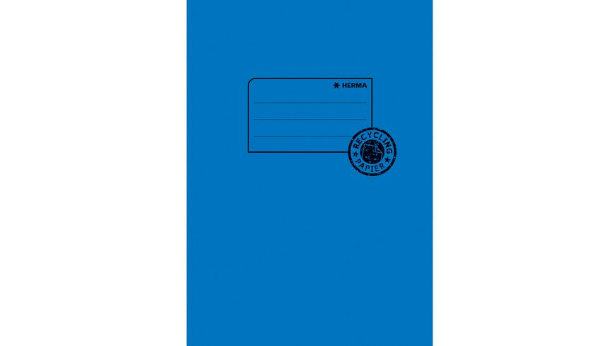 HERMA Hefthülle A5 aus Papier dunkelblau