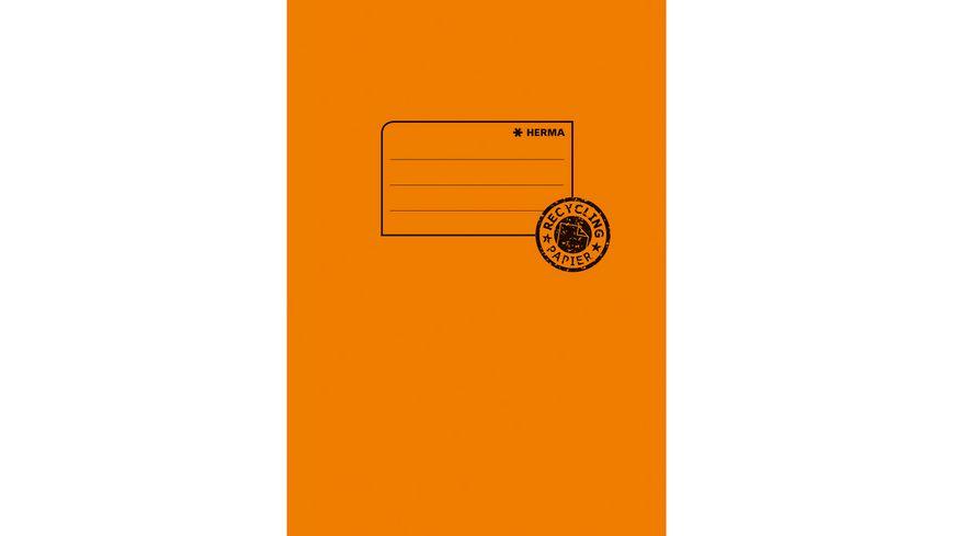 HERMA Hefthülle A5 aus Papier orange