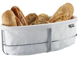GEFU Brotkorb BRUNCH oval weiss