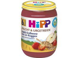HiPP Frucht und Urgetreide 190g Apfel Erdbeere mit Ur Roggen ohne Zuckerzusatz ab 6 Monat