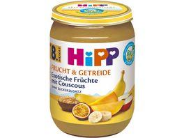 HiPP Bio Frucht und Getreide Exotische Fruechte mit Couscous ohne Zuckerzusatz 190g