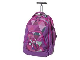 SCHNEIDERS Trolleyrucksack Frieda the Fox Violet