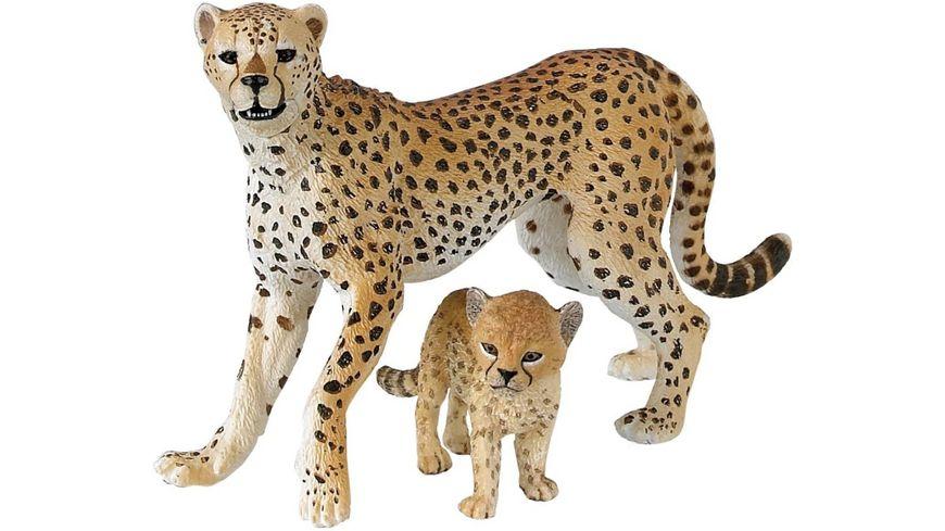 Papo Gepardin mit Jungtier