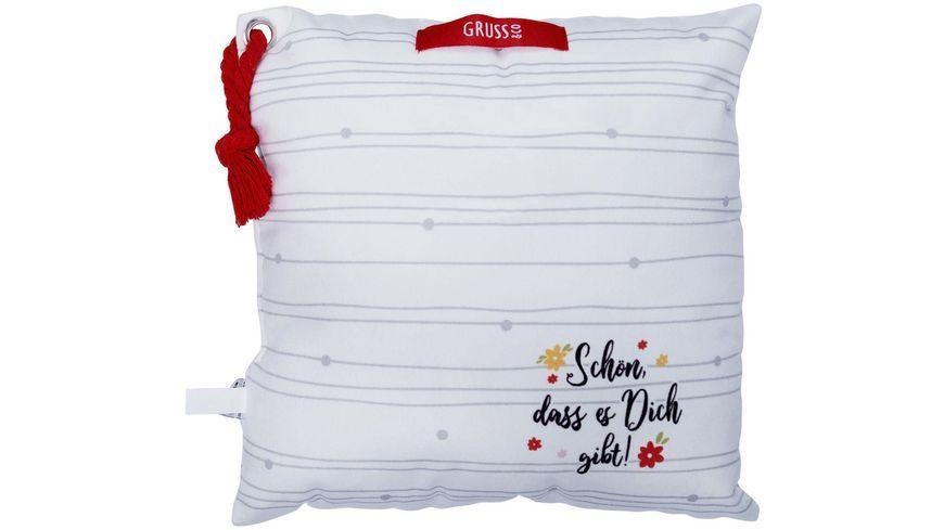 GRUSS CO Plueschkissen Schwesterherz