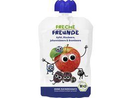 Freche Freunde Bio Quetschie Apfel Blaubeere Johannisbeere Brombeere