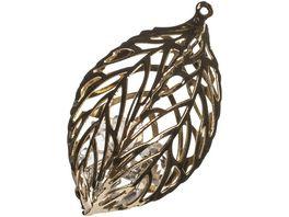 EUROSAND Streudekoration Brillant Metal Shapes Blatt
