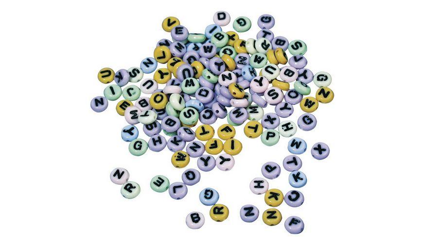 Rayher - Plastik-Buchstaben-Perlen rund, 6mm ø, SB-Blister 40g, gemischt