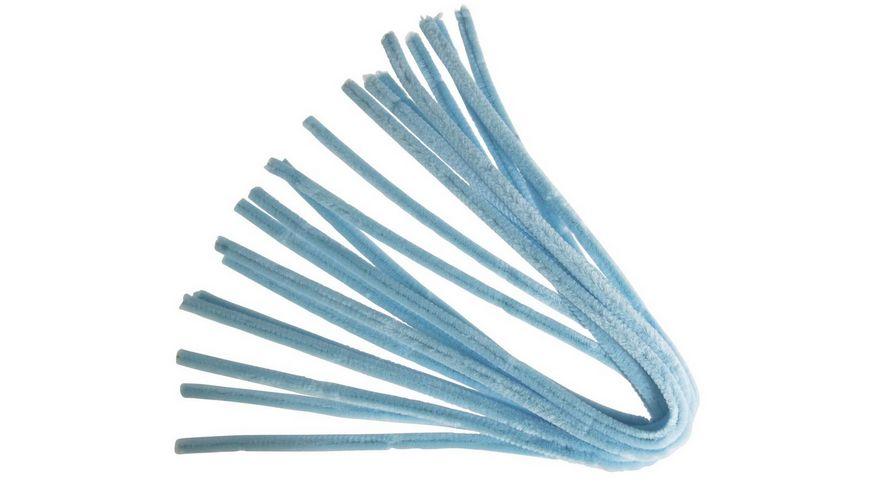 Rayher - Chenilledraht, hellblau, 50cm, Stärke 9 mm, SB-Btl 10Stüc