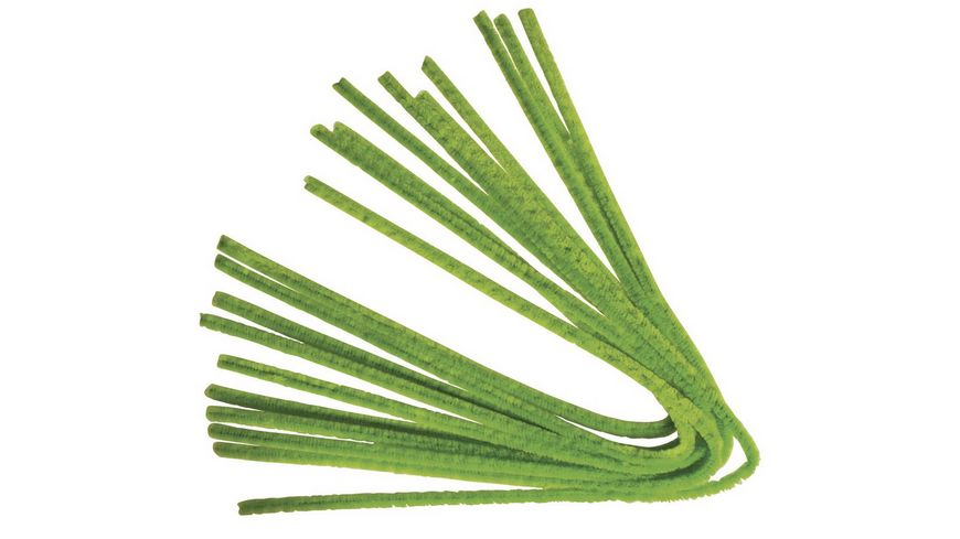 Rayher - Chenilledraht, hell oliv, 50cm, Stärke 9 mm, SB-Btl 10Stück