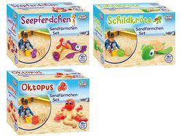 Mueller Toy Place Sandfoermchen Set fuer Strand und Kinetic Sand geeignet 1 Stueck sortiert