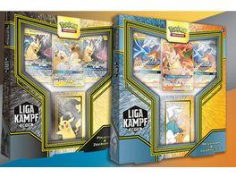 Pokemon Sammelkartenspiel Liga Kampfdeck Pikachu Zekrom GX oder Reshiram Glurak GX 1 Stueck sortiert