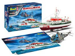 Revell 05683 Geschenkset DGzRS Berlin Sea King Good Bye Set